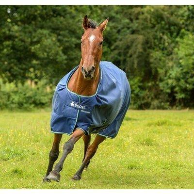 Bucas Smartex Pferdedecke Medium 150, Gr. 115 cm- blau