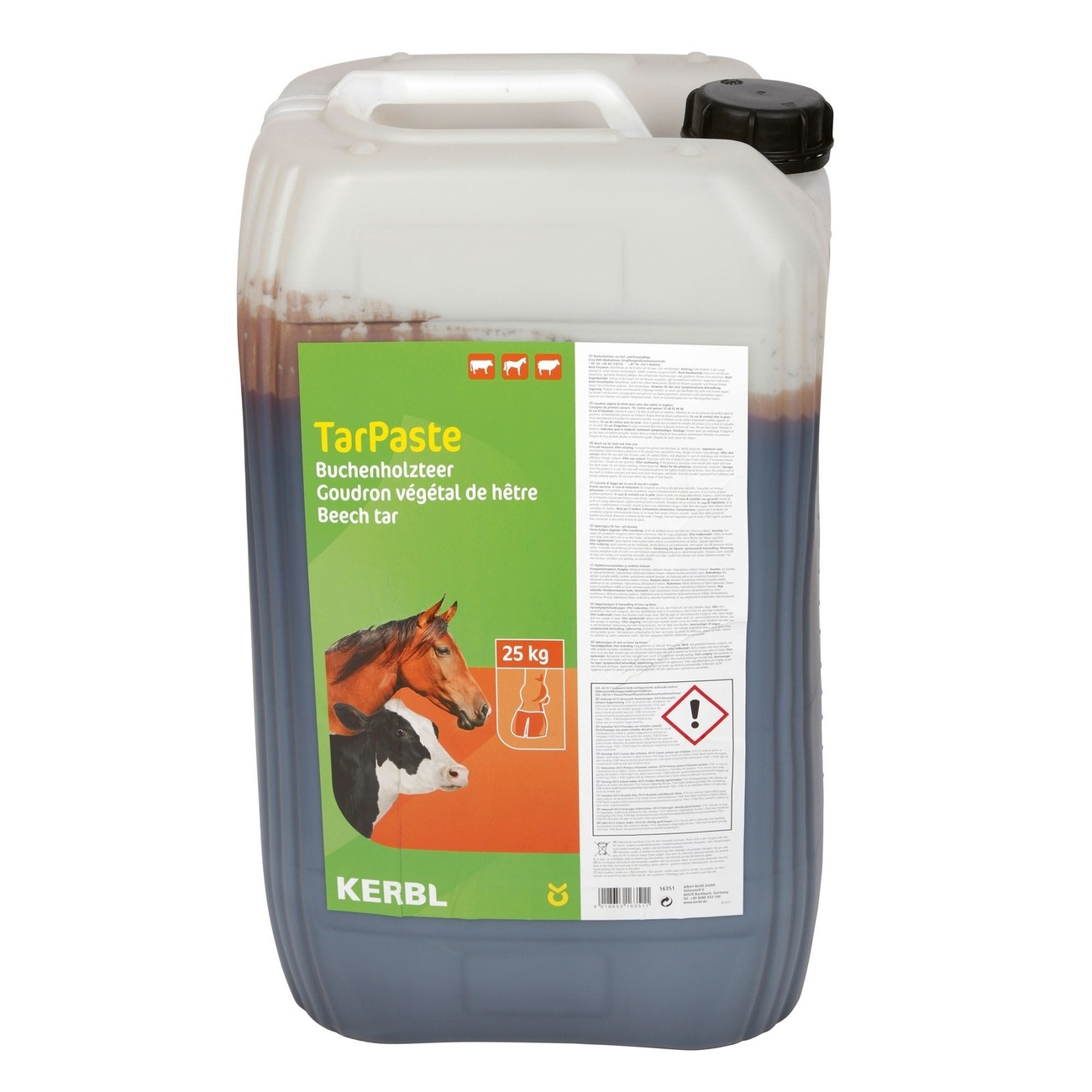 Kerbl Buchenholzteer TarPaste zur Hufpflege, 25 kg