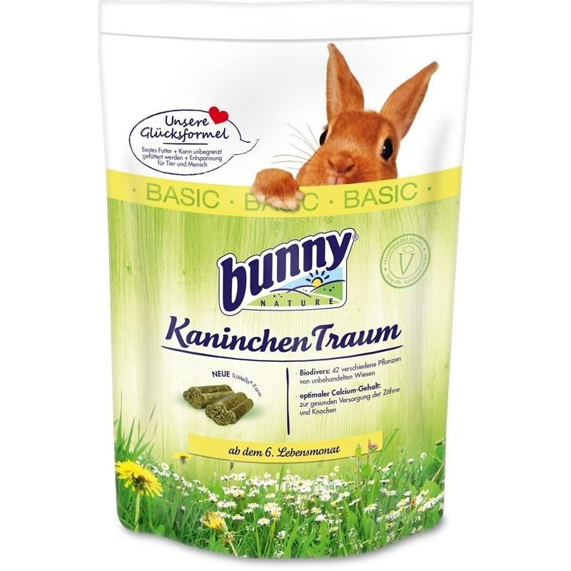 Bunny Kaninchen Traum basic Kaninchenfutter, 1,5 kg