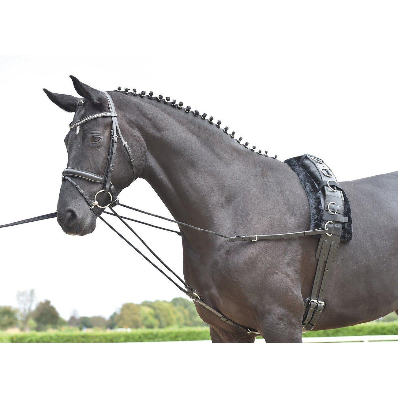 BUSSE Dreieckszügel Basic Kordel, Gr. Pony - schwarz