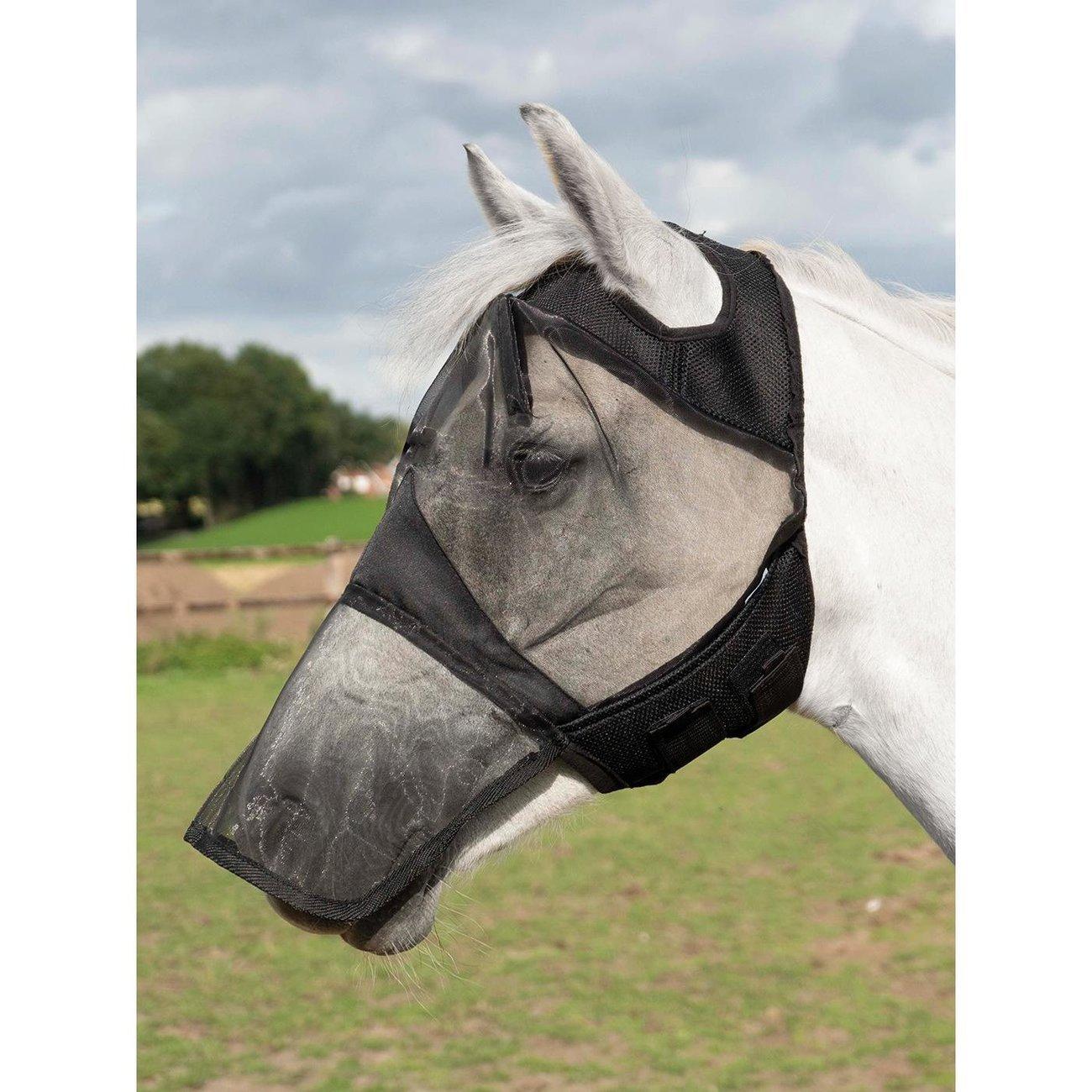 BUSSE Fliegenmaske Fly Cover Pro Gap, Gr. Pony - schwarz