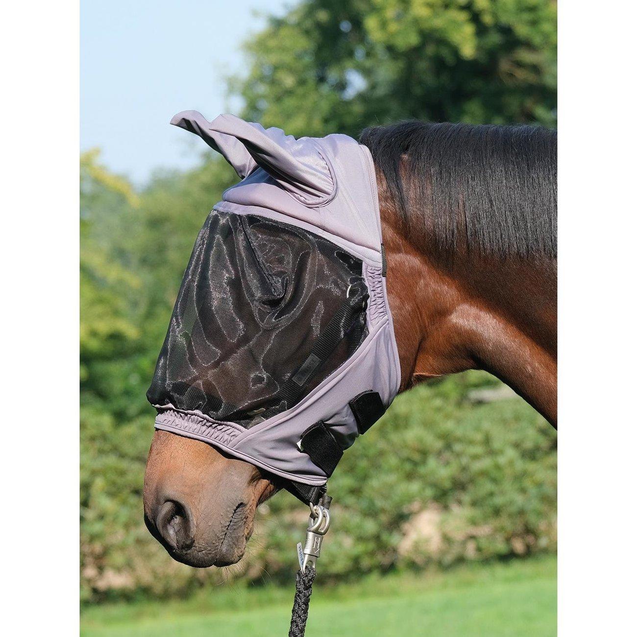 BUSSE Fly Buckler Fliegenmaske, Gr. Pony - grau