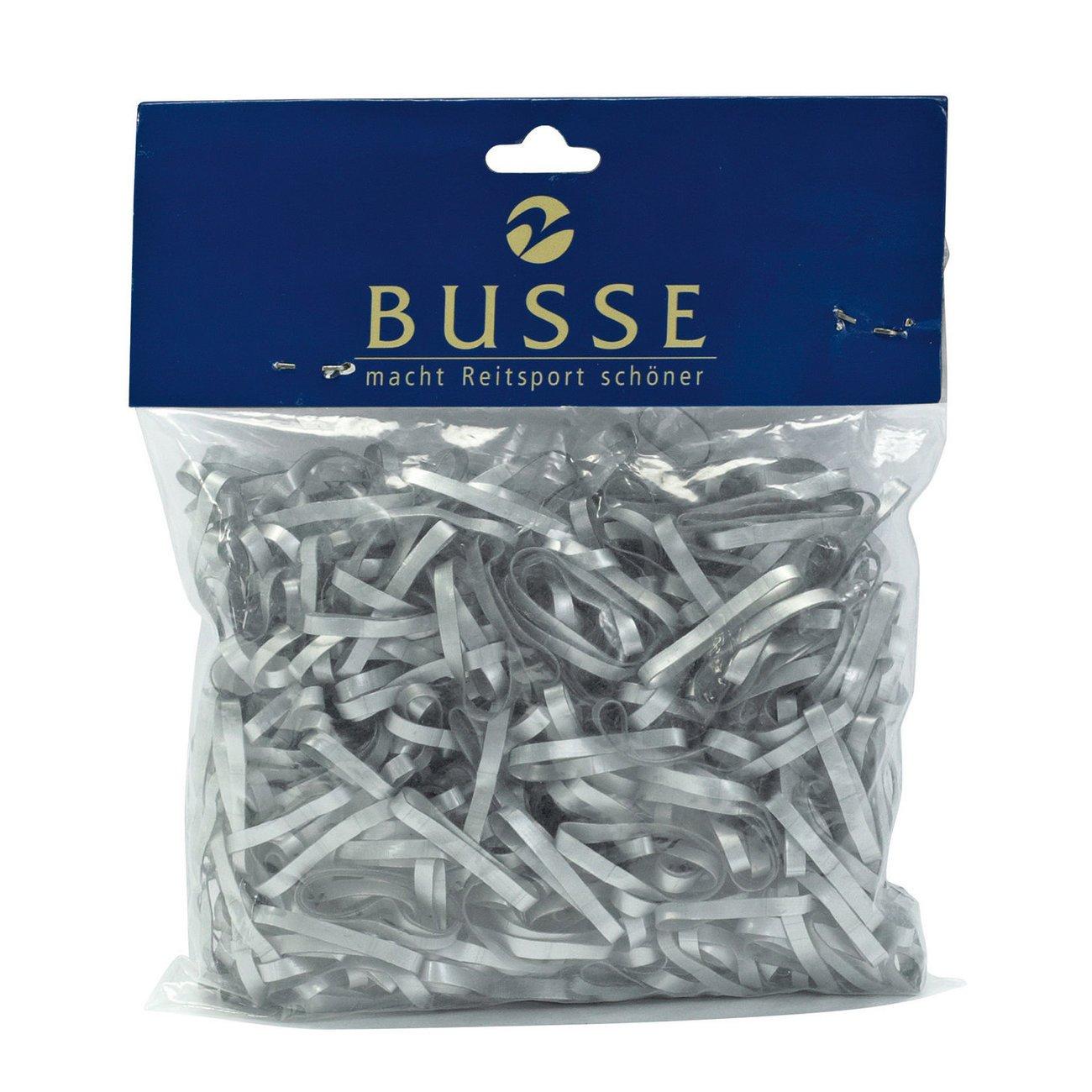 BUSSE Mähnengummis Silikon, 450 Stück - silber
