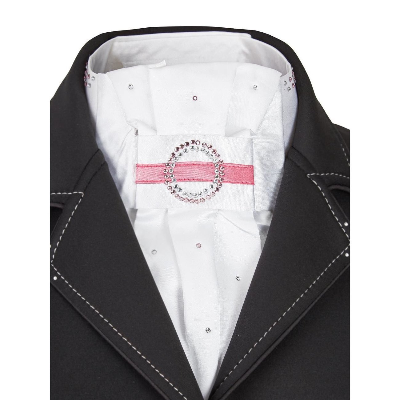 BUSSE Plastron Cecile, weiß/pink