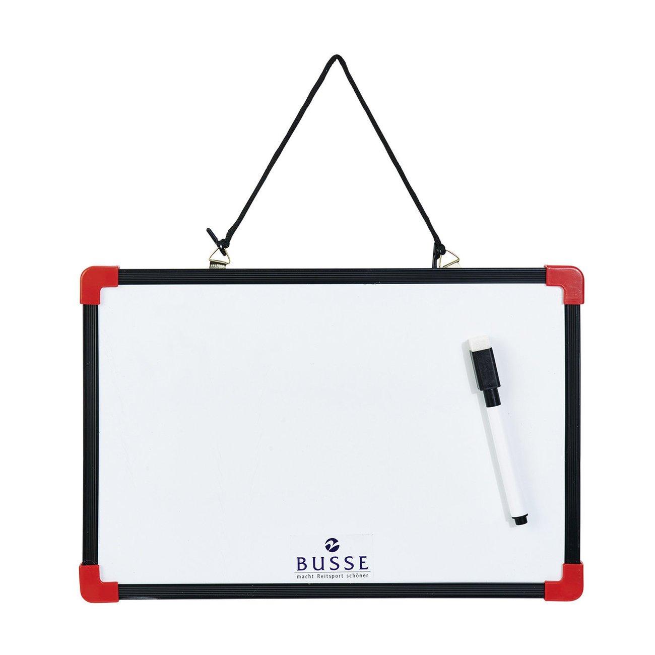 BUSSE Schreibtafel mit Stift, Gr. 30 cm x 20 cm - weiss
