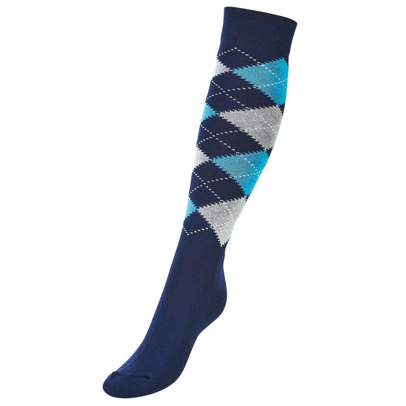 BUSSE Socken Basic Karo III, Gr. 35 - 38, navy/denim/grey