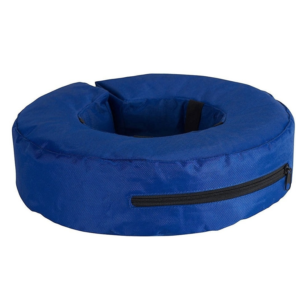 Kruuse Buster aufblasbarer Hundekragen, XXL, Innen 22 cm, Außen 44 cm, blau