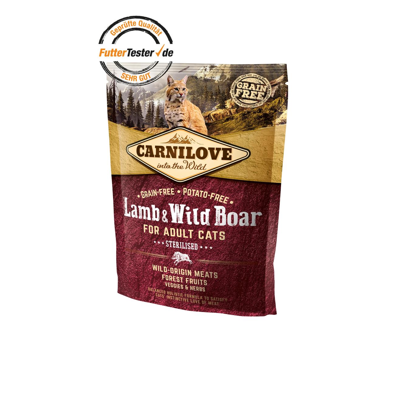 Carnilove Adult Lamb & Wild Boar Katzenfutter, Bild 3