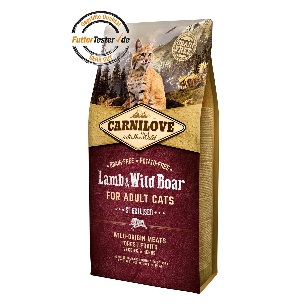 Carnilove Adult Lamb & Wild Boar Katzenfutter