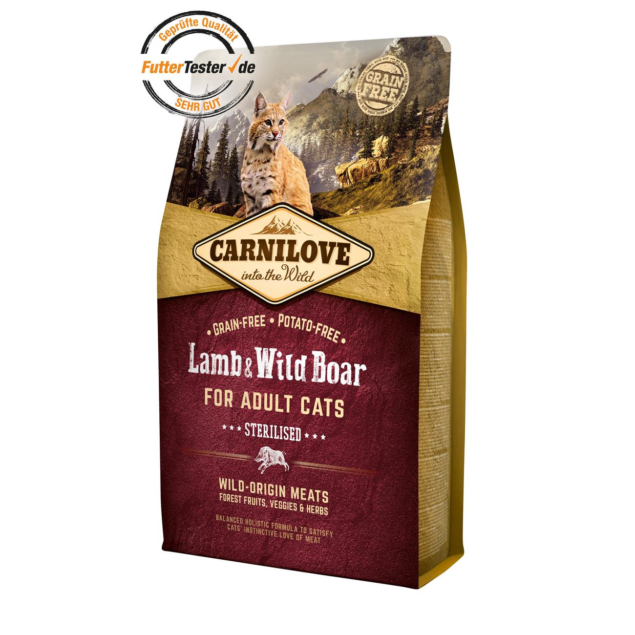 Carnilove Adult Lamb & Wild Boar Katzenfutter, Bild 2