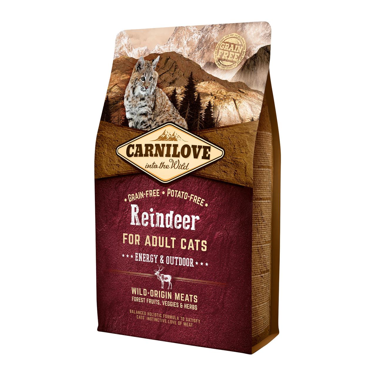 Carnilove Adult Reindeer Energy & Outdoor für Freigänger Katzen, Bild 2