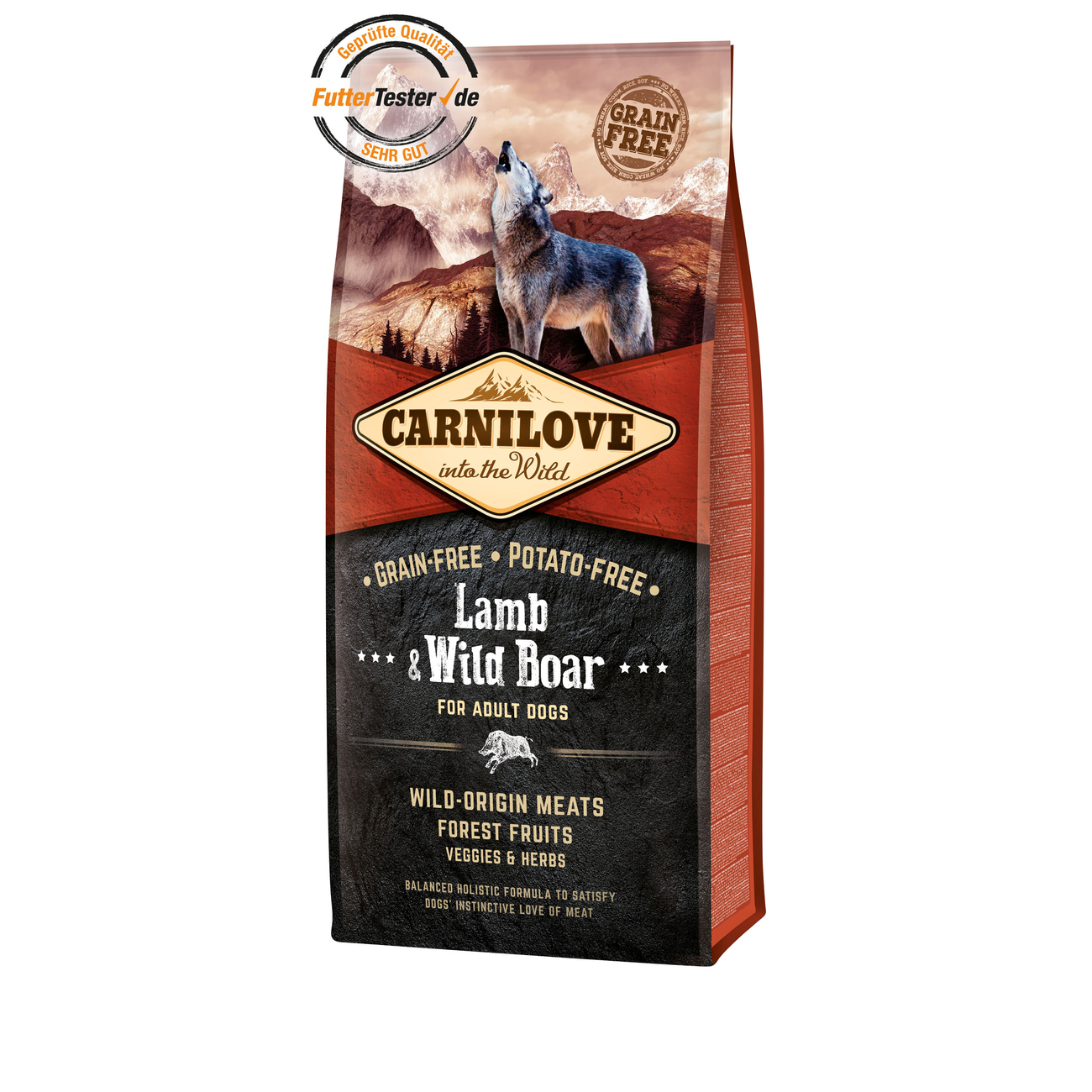 Allco Carnilove Adult Lamb & Wild Boar Hundefutter, 12 kg