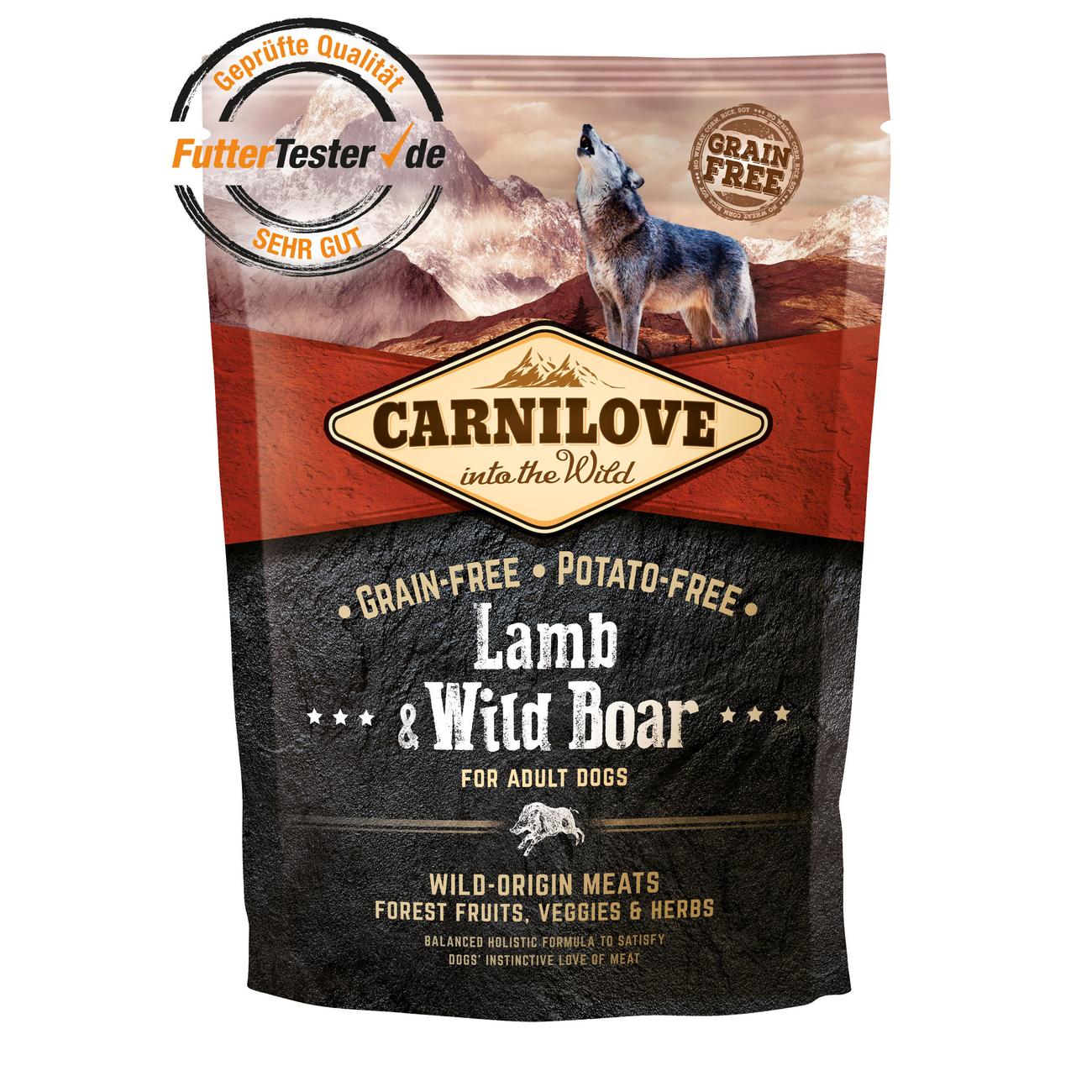 Allco Carnilove Adult Lamb & Wild Boar Hundefutter, 1,5 kg
