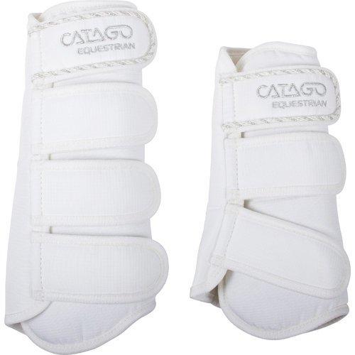 CATAGO Diamond Dressur Gamaschen, Gr. Pony - weiß/rot