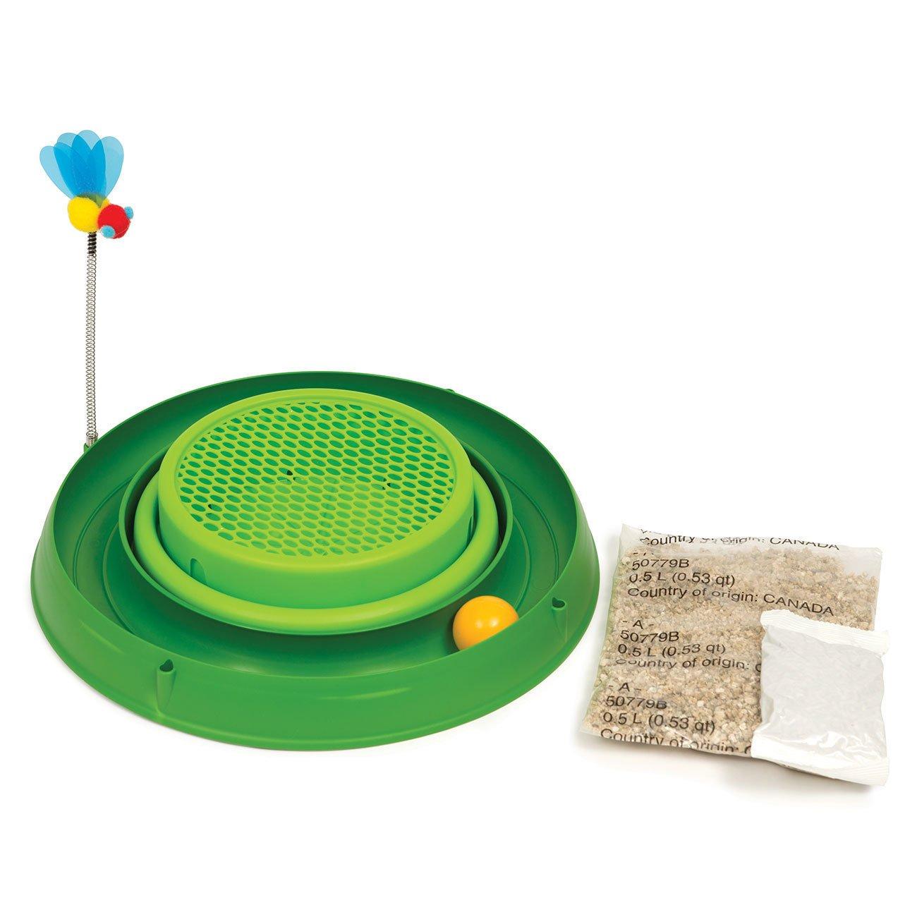 Hagen Catit Play-n-Scratch mit Biene 3in1, grün - mit Katzengrasgarten (inkl. Samen)