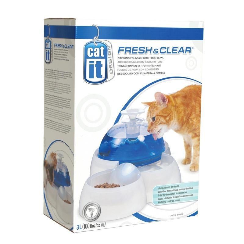 Catit Trinkbrunnen 3L mit Futternapf für Katzen und kleine Hunde, Bild 4