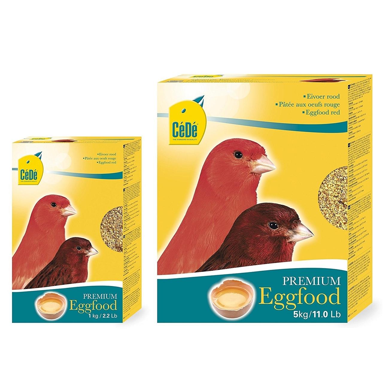 CeDe CéDé Vogelfutter Eifutter Kanarien rot, 1 kg