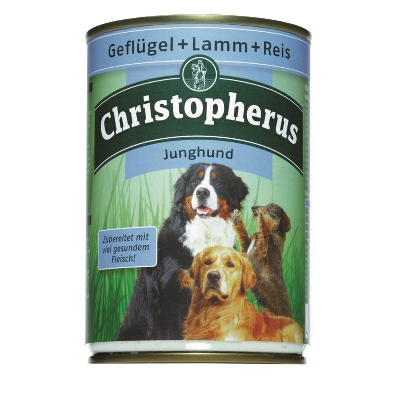 Christopherus Junghund Hundefutter Dose