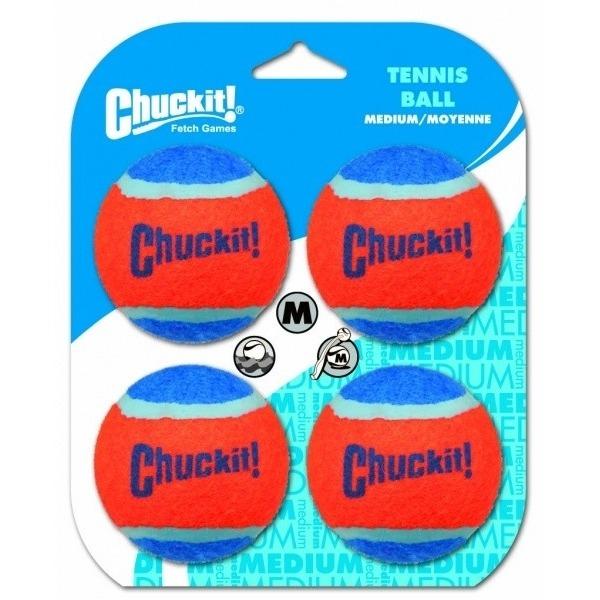 Chuckit! Tennis Balls 4er mittel, 6,5cm, 4 Stk.