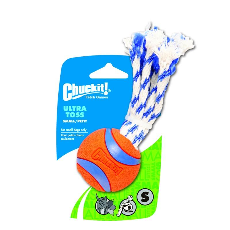 Chuckit! Ultra Toss Hundespielzeug am Seil, Small, 5 cm