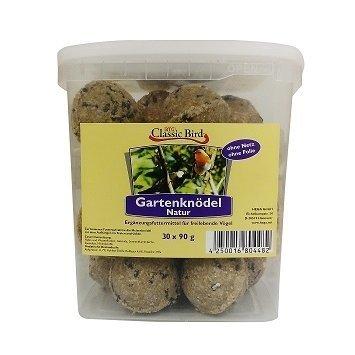 Classic Bird Gartenknödel NATUR 30er Knödel im Eimer ohne Netz & ohne Folie, 3 kg Eimer