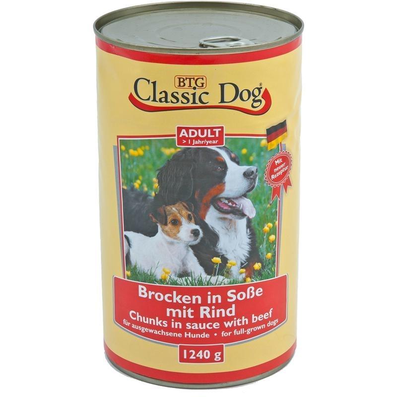 Classic Dog Dosenfutter für Hunde, Rind 6x1240g
