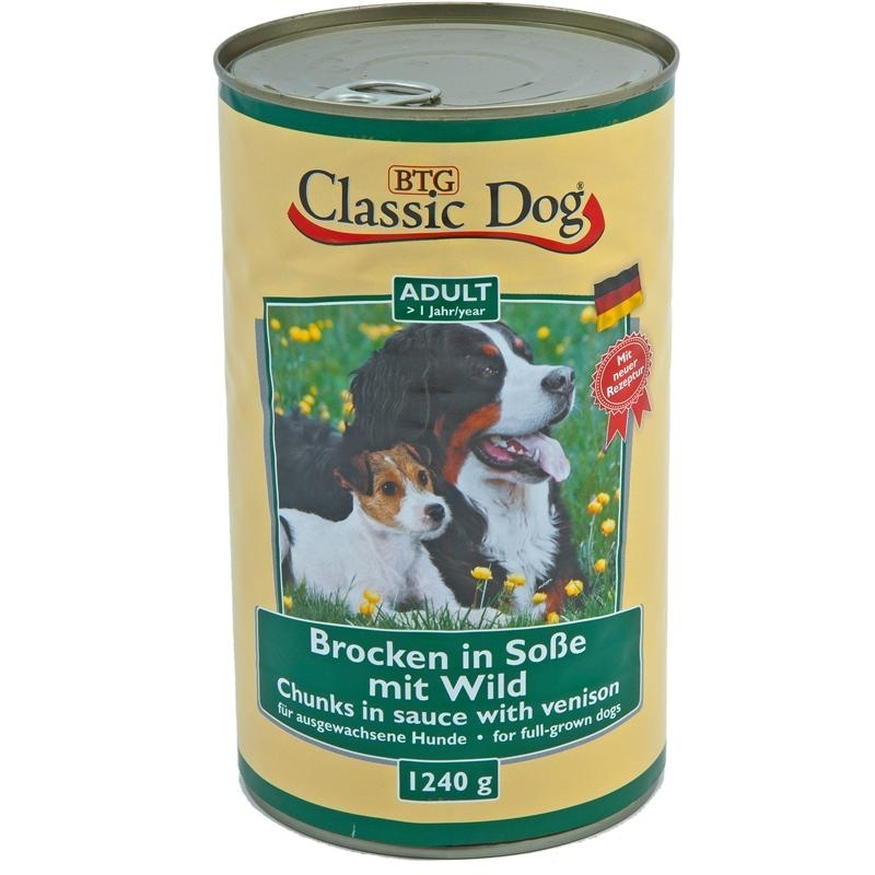 Classic Dog Dosenfutter für Hunde, Lamm 6x1240g