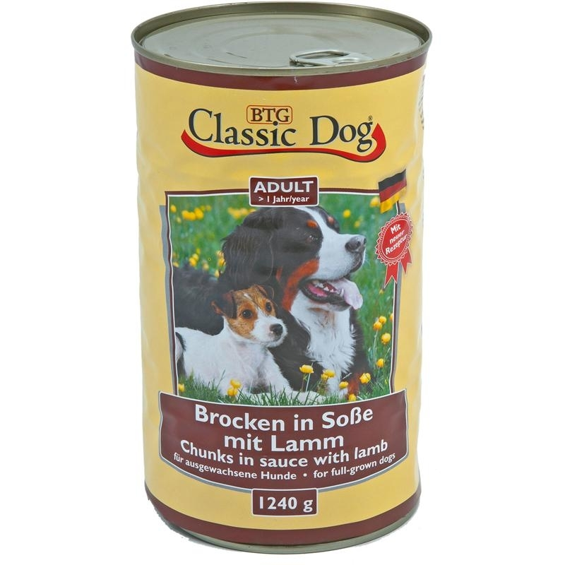 Classic Dog Dosenfutter für Hunde, Wild 6x1240g