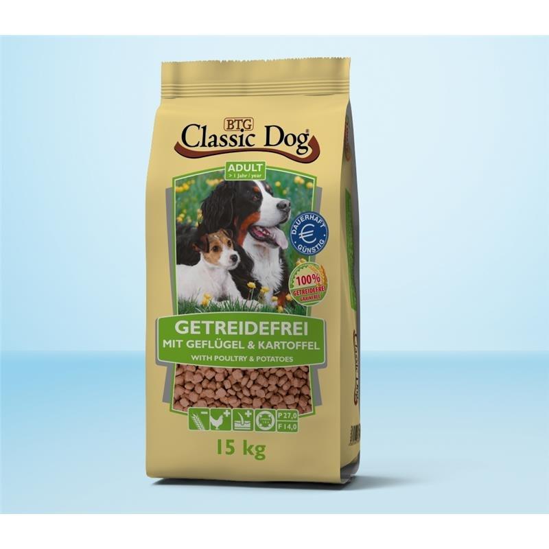 Classic Dog Geflügel & Kartoffel getreidefreies Hundefutter