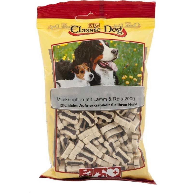Classic Dog Snack Miniknochen, mit Lamm & Reis 200g