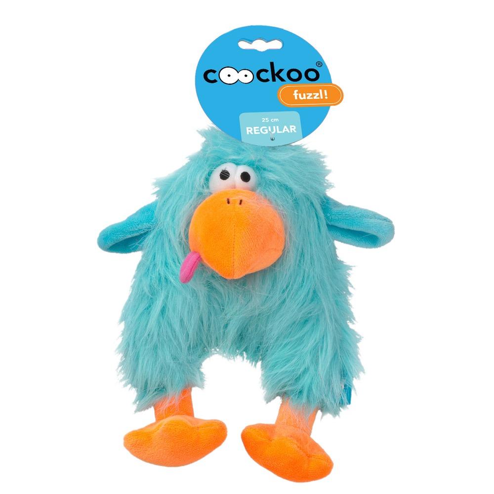 EBI Coockoo Fuzzl Hundespielzeug mit Quietscher, Blau, 25 x 14 cm