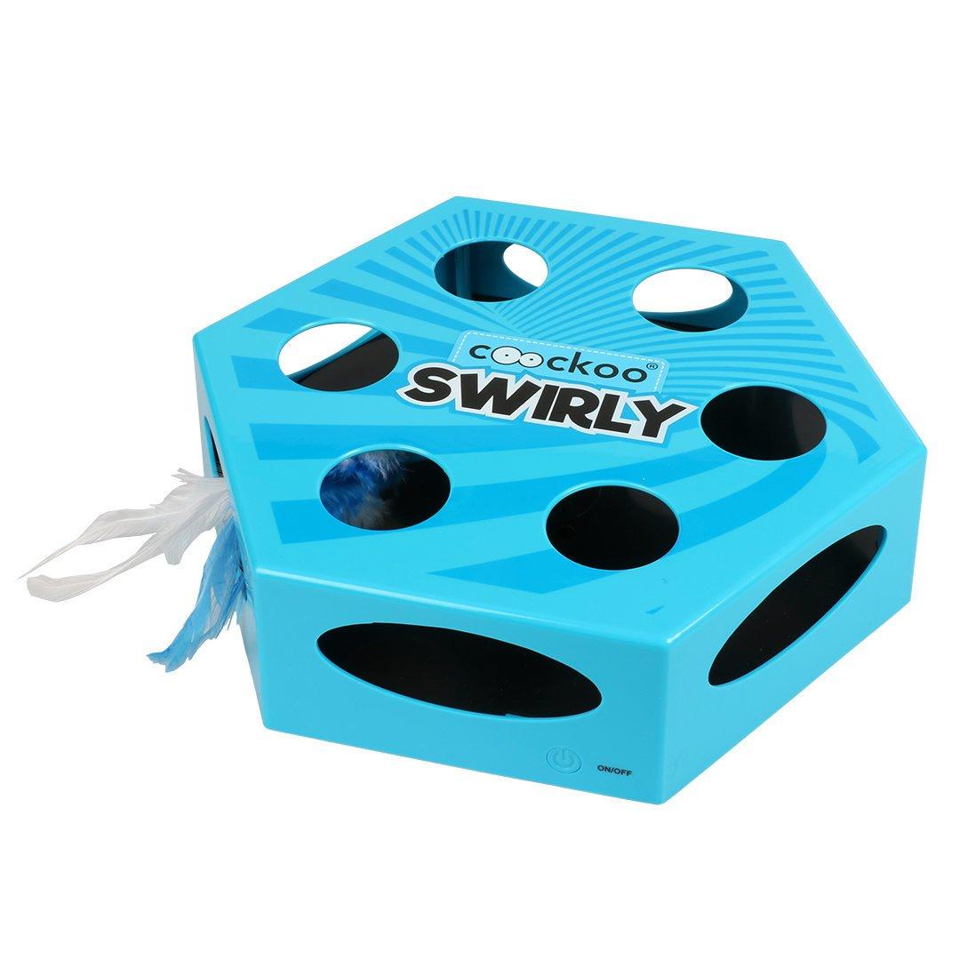 EBI Katzenspielzeug Swirly, blau, 20,4 x 6,8 x 23 cm