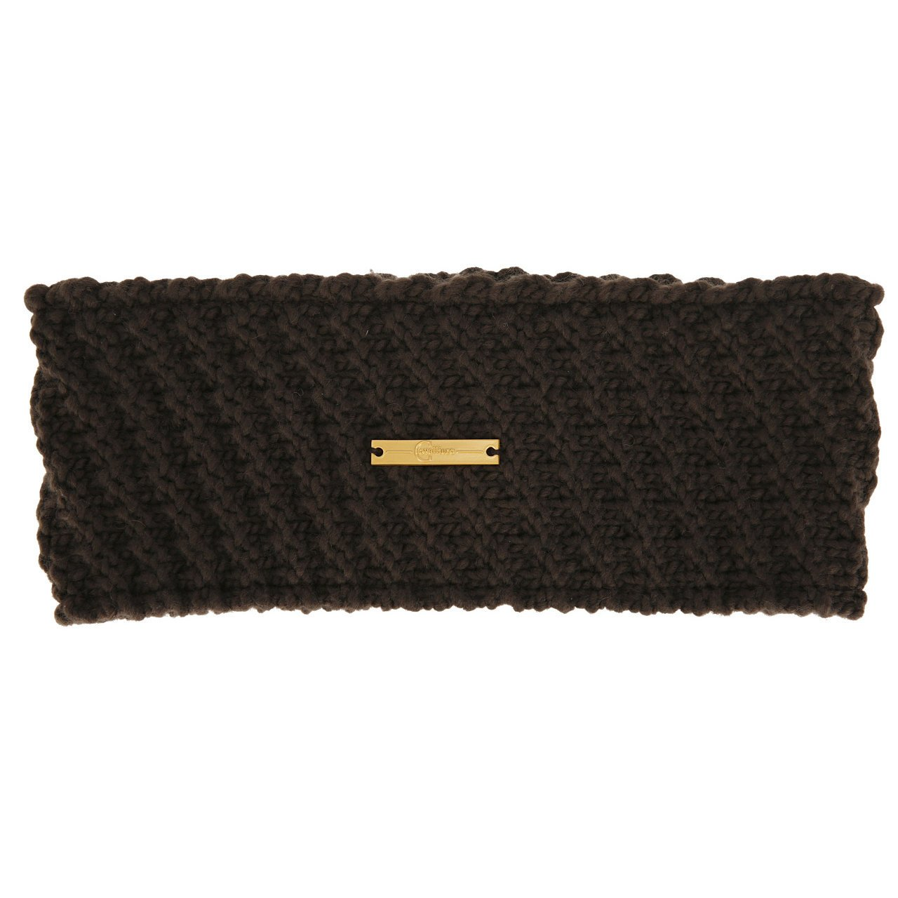 Covalliero Strickmuster Stirnband, dark brown