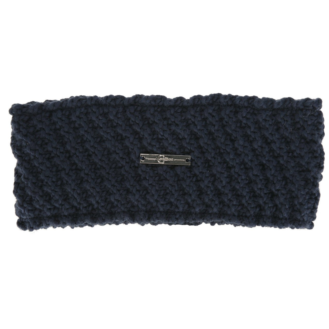 Covalliero Strickmuster Stirnband, dark blue