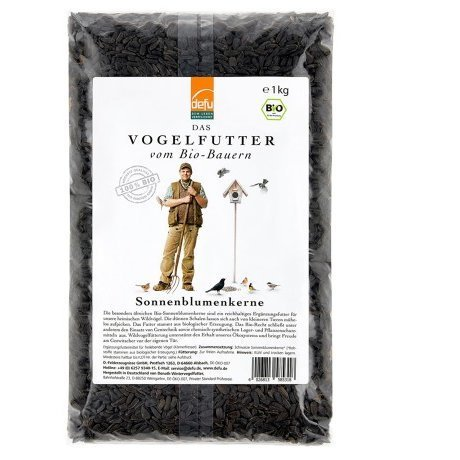 defu Bio-Sonnenblumenkerne schwarz, 1 kg