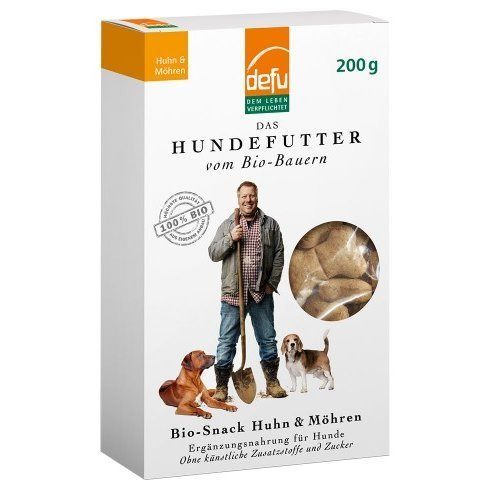 defu Hunde Bio-Snack Huhn & Möhren, 200 g