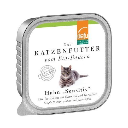 defu Katzenfutter Huhn Sensitive Pâté