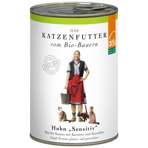 defu Katzenfutter Huhn Sensitive Pâté, 12 x 410 g