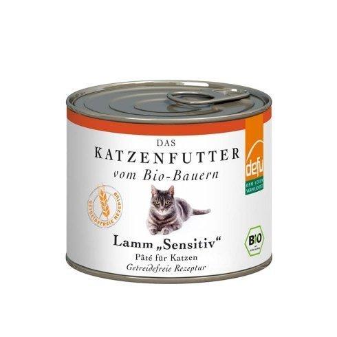 defu Katzenfutter Lamm Sensitive Pâté, 12 x 200 g