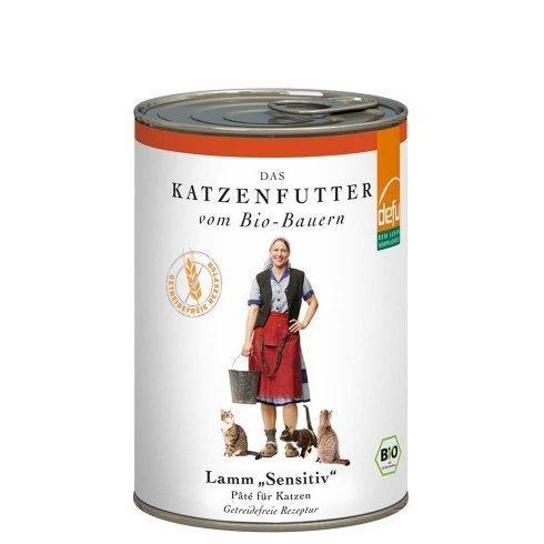 defu Katzenfutter Lamm Sensitive Pâté, 12 x 410 g