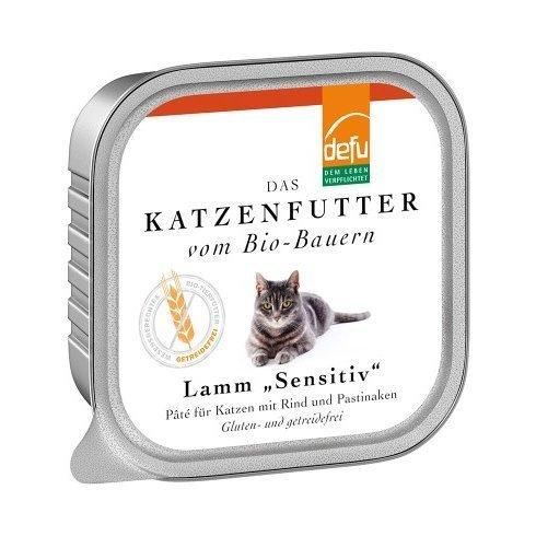 defu Katzenfutter Lamm Sensitive Pâté, 16 x 100 g