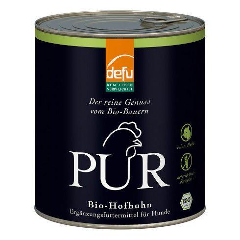 PUR Bio Hundefutter Nassfutter, 6 x 800 g, Hofhuhn