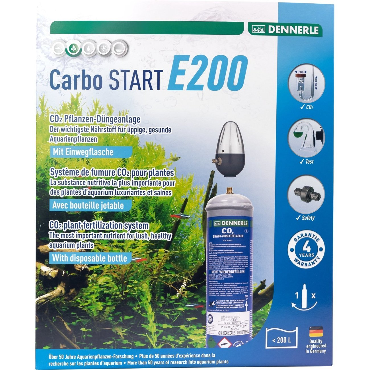 Dennerle CO2 Einweg Vorratsflaschen Komplettset