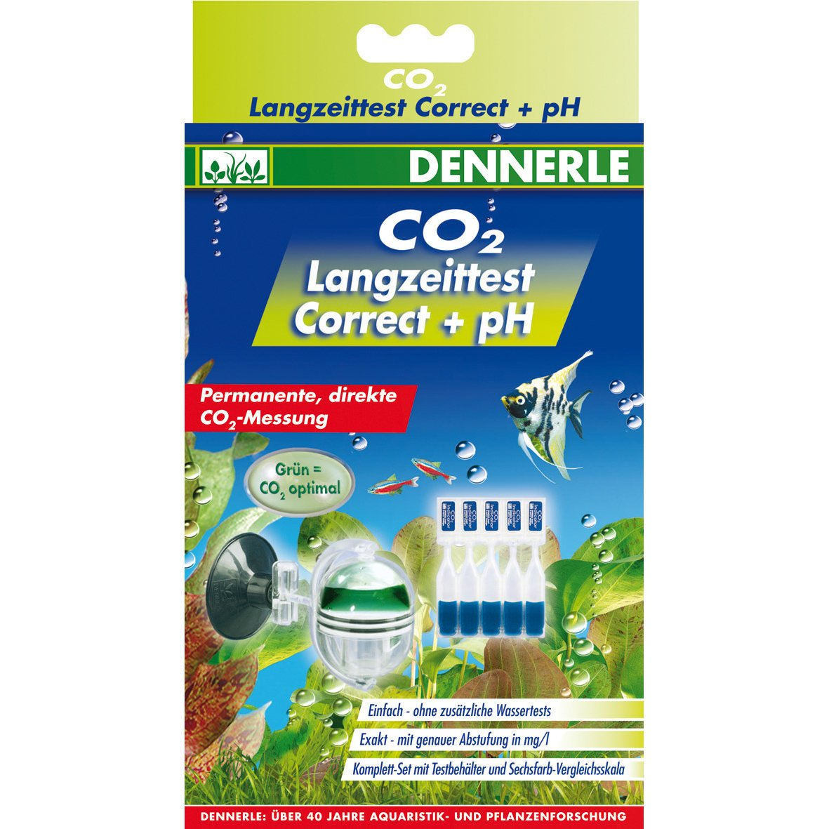 Dennerle CO2 Langzeittest Correct +pH