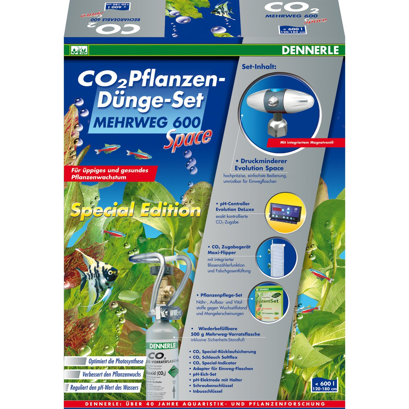 Dennerle CO2 Mehrweg Set 600 SPACE