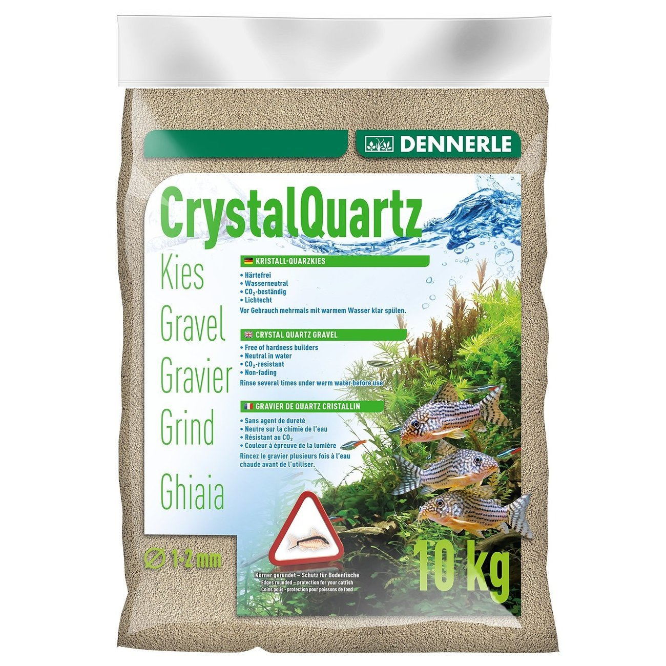 Dennerle Kristall-Quarzkies, 10 kg, naturweiß