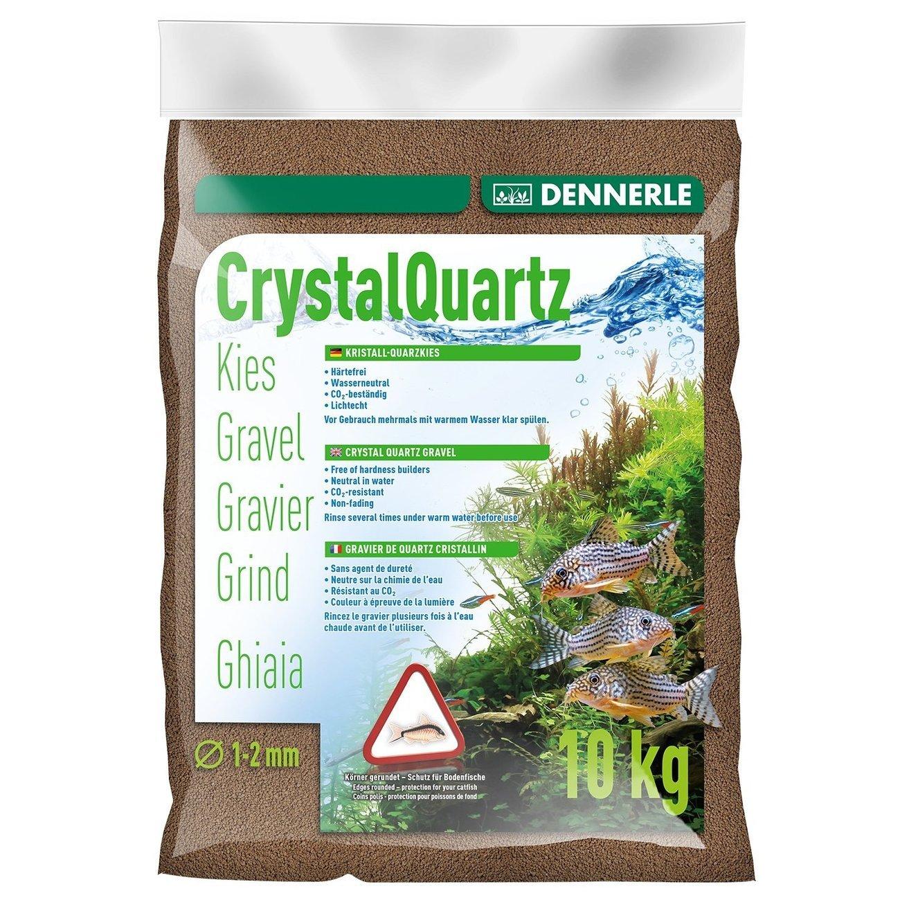 Dennerle Kristall-Quarzkies, 10 kg, dunkelbraun