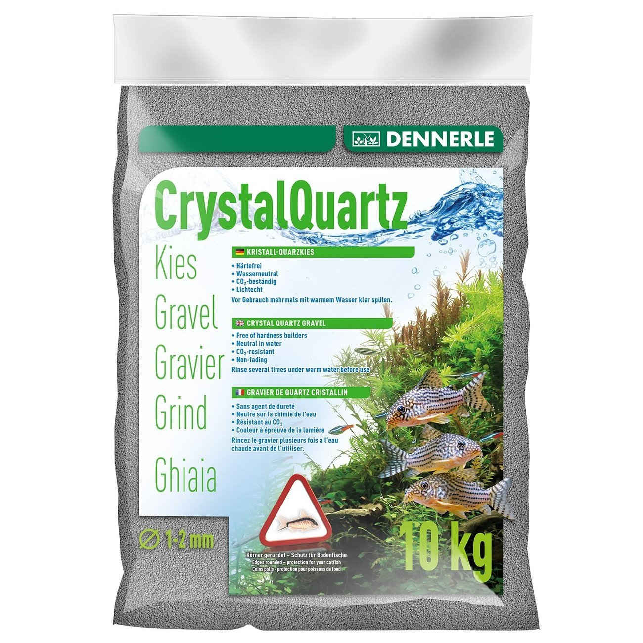 Dennerle Kristall-Quarzkies, 10 kg, grau