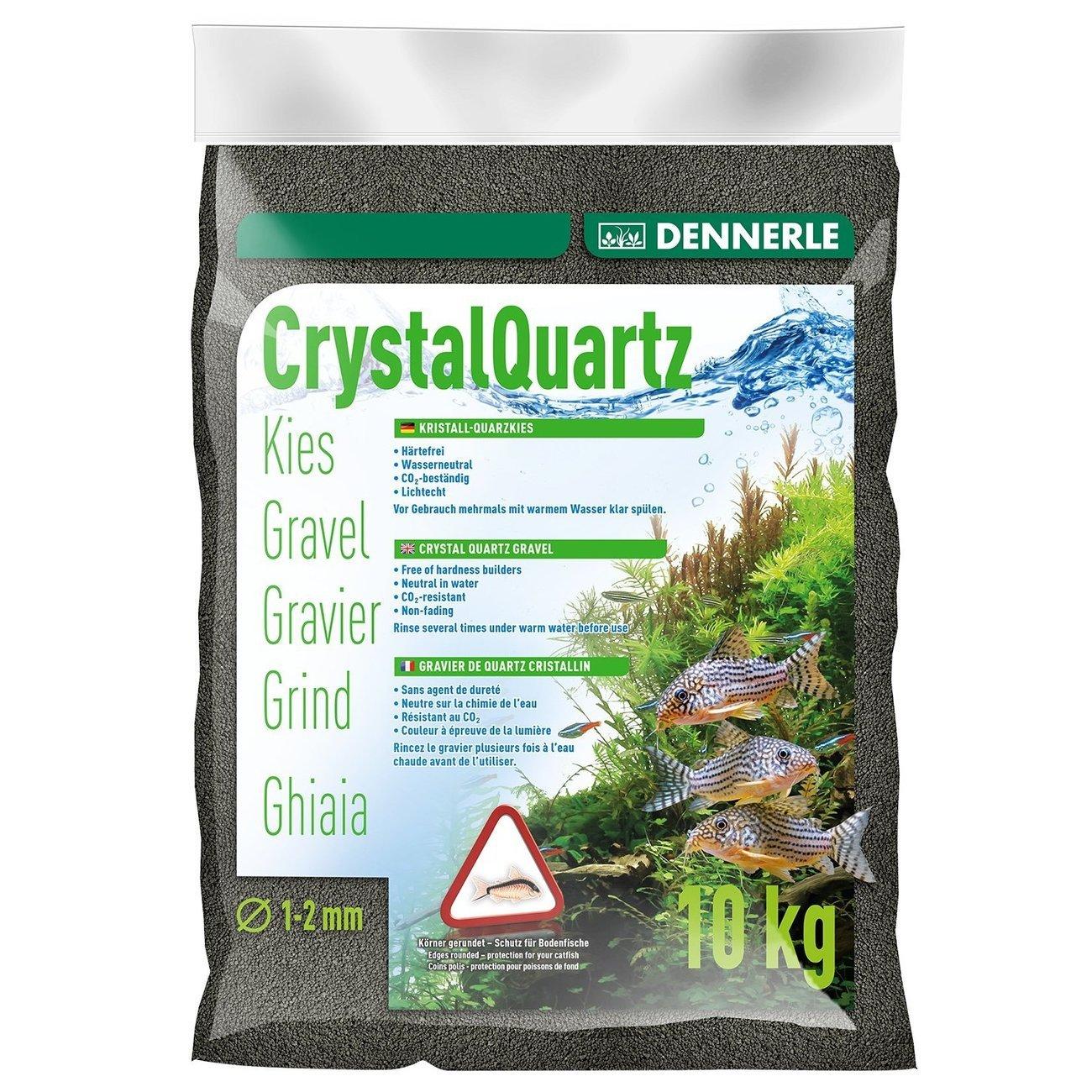 Dennerle Kristall-Quarzkies, 10 kg, schwarz
