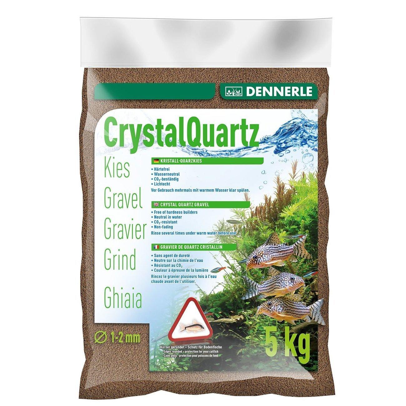 Dennerle Kristall-Quarzkies, 5 kg, dunkelbraun